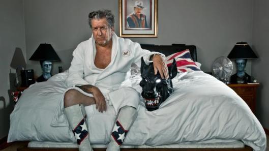 Steve Jones at home in Los Angeles