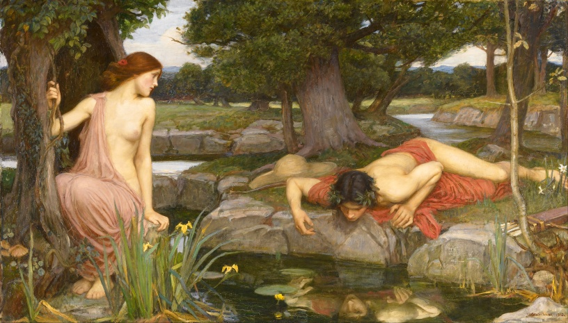 Echo and Narcissus by John William Waterhouse featured on 7deadlythings